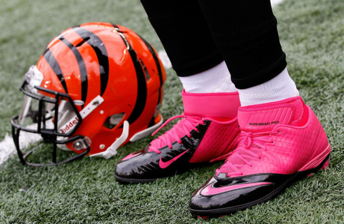 Michael Johnson wearing Nike Lunar Superbad Pro TD Pink