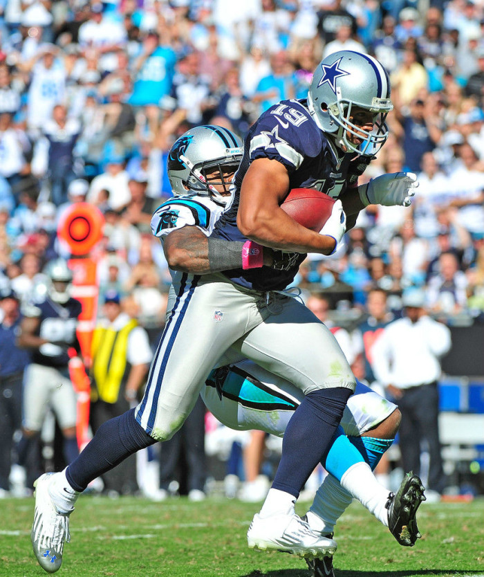 Miles Austin wearing Under Armour Nitro Diablo Low