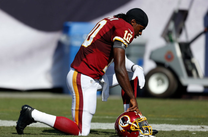 Robert Griffin III wearing adidas adiZero 5-Star