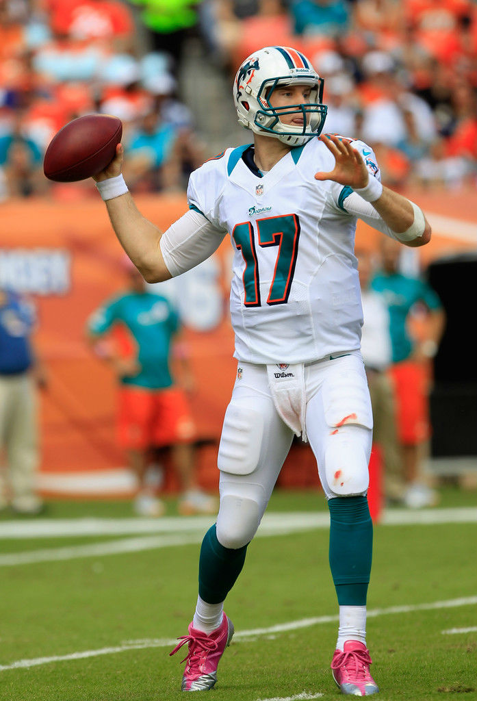 Ryan Tannehill wearing adidas SuperCharge Mid Pink