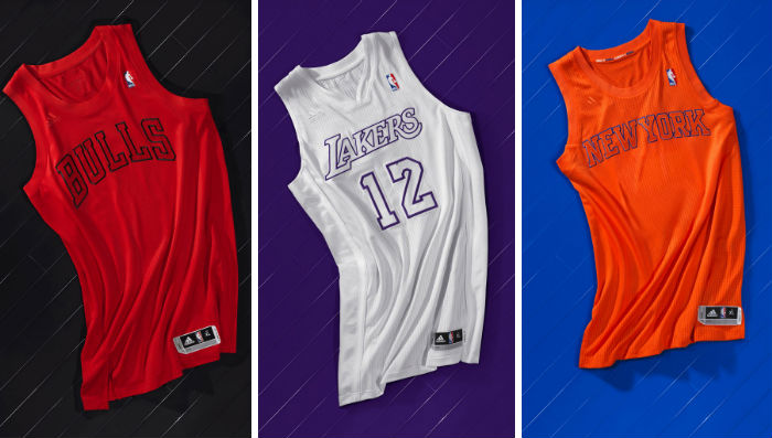 NBA & adidas Unveil BIG Color Christmas Uniforms
