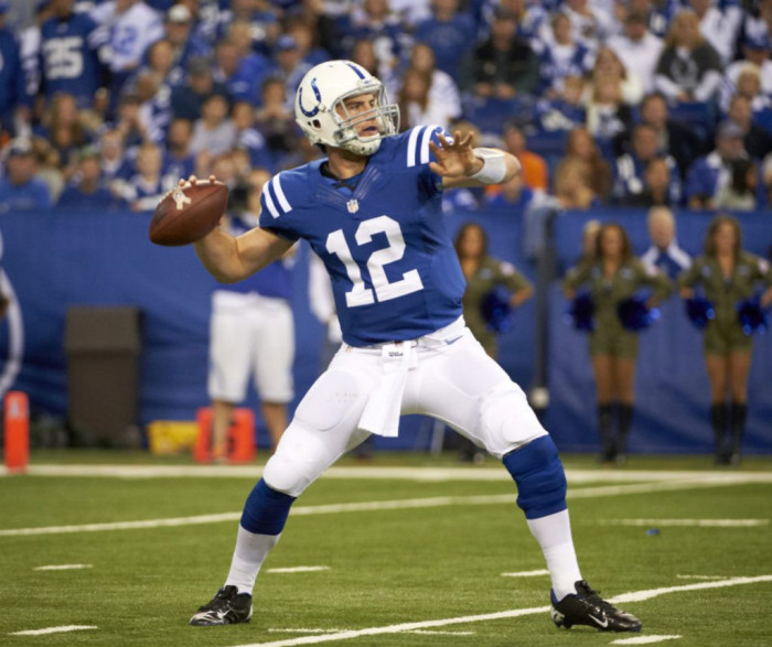 another chance a4d50 1f0ff Andrew Luck wearing Nike Vapor Talon Elite Low