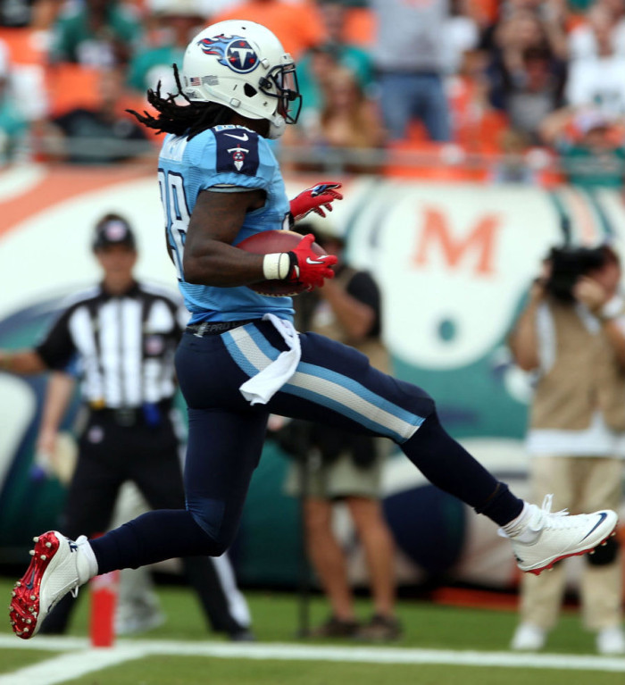Chris Johnson wearing Nike Lunar Superbad Pro TD