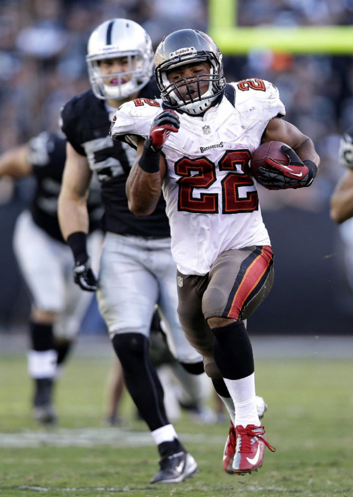 Doug Martin wearing NIke Vapor Talon Elite Low