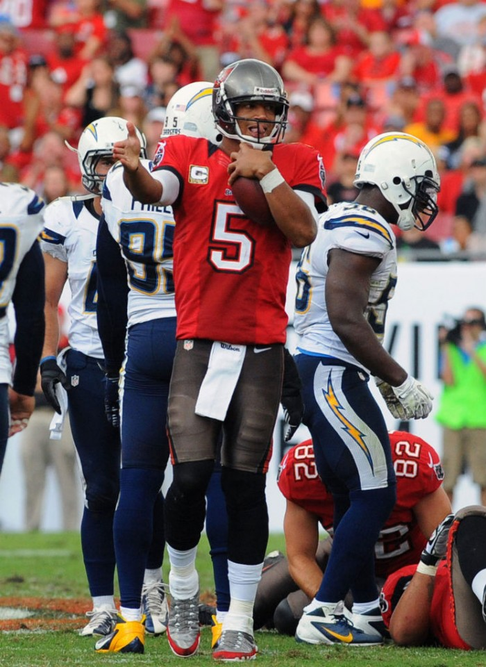 Josh Freeman wearing Air Jordan IX 9 Cleats