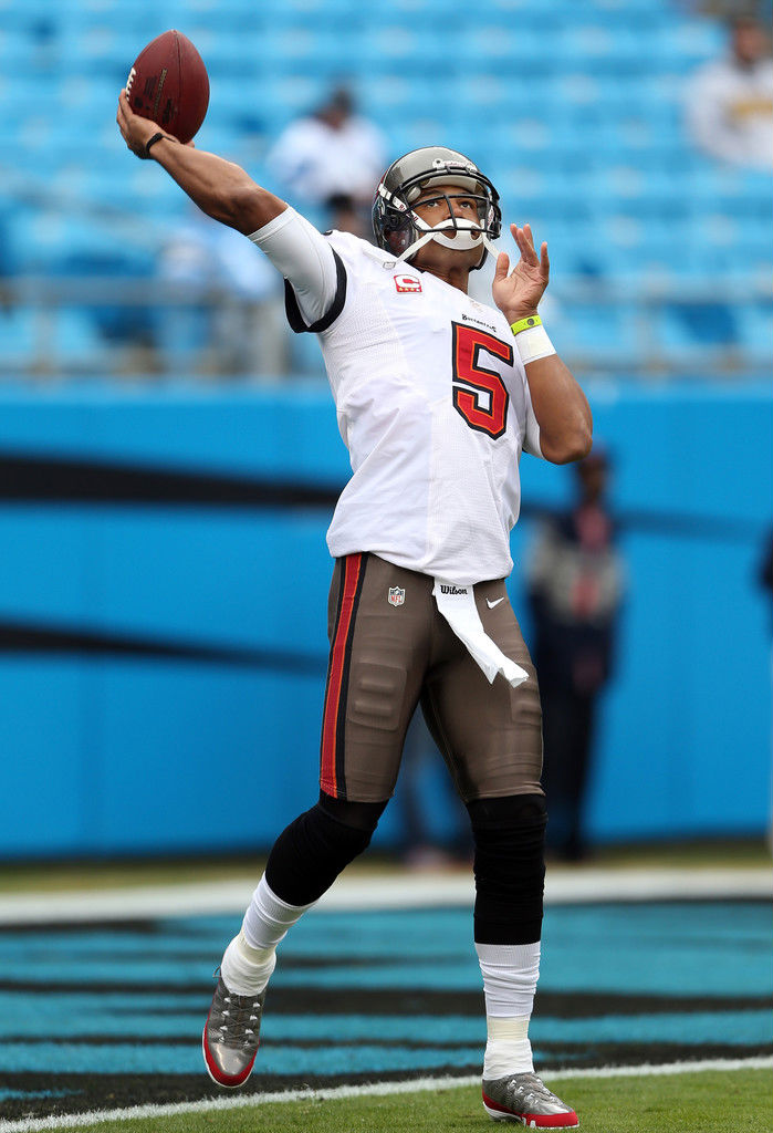 Josh Freeman wearing Air Jordan IX 9 PE Cleats