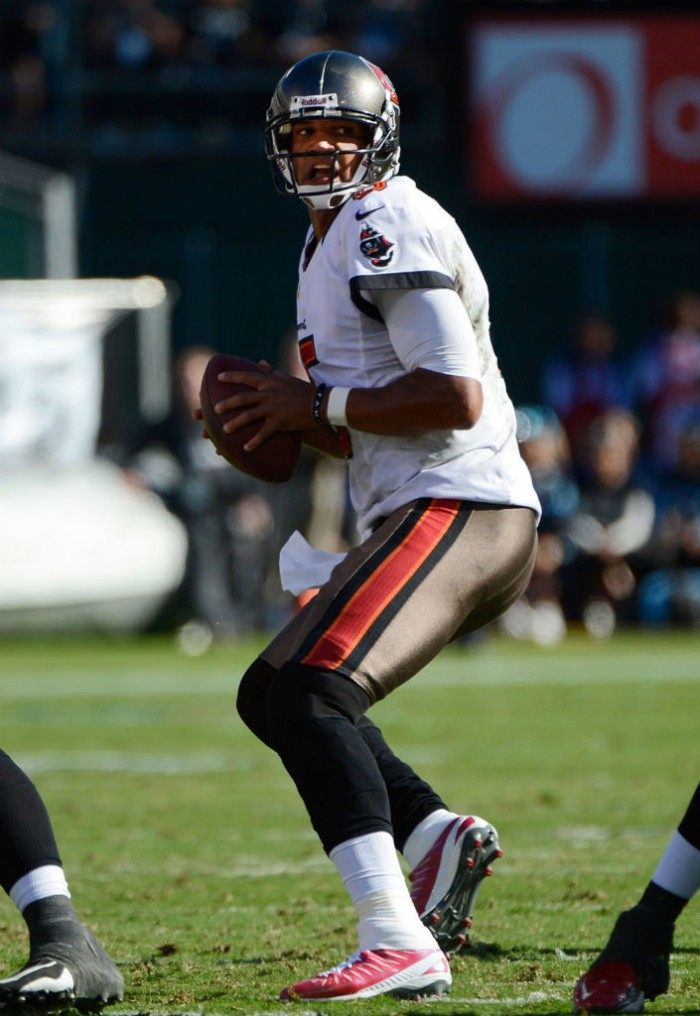 Josh Freeman wearing Jordan Super.Fly PE