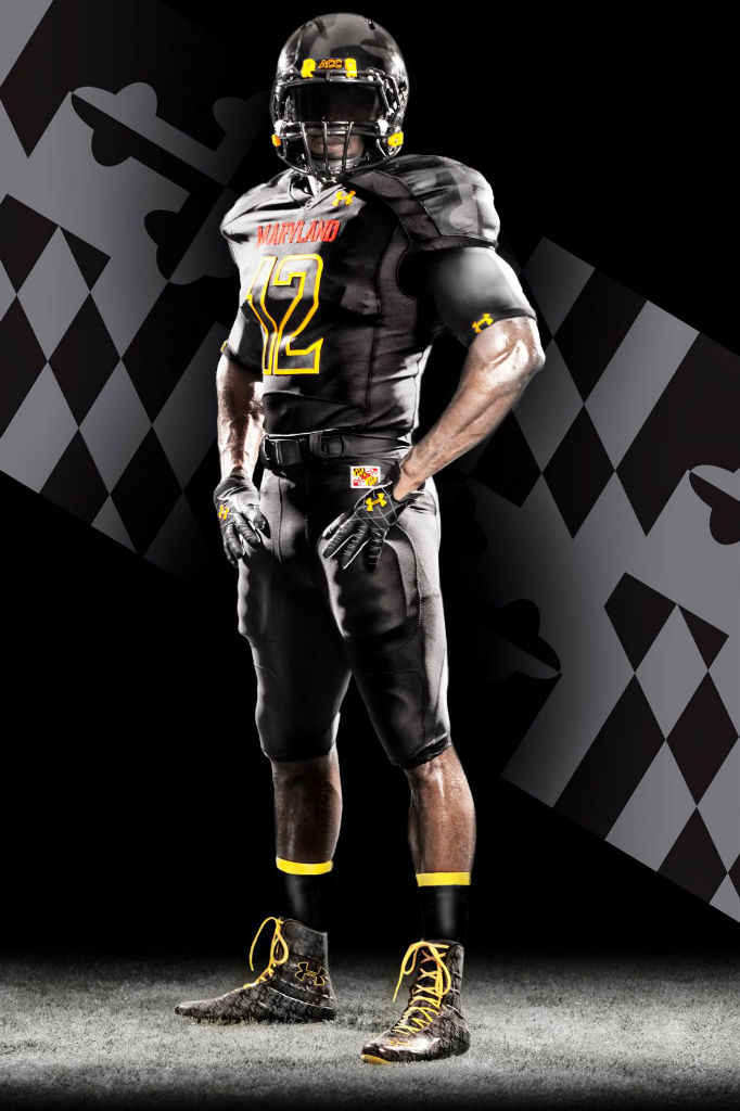 """Maryland's Under Armour """"Black Ops"""" Uniforms (1)"""