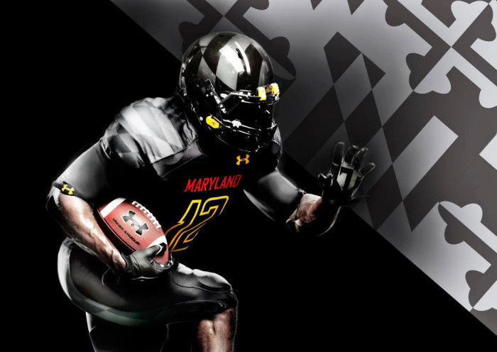 """Maryland's Under Armour """"Black Ops"""" Uniforms (2)"""