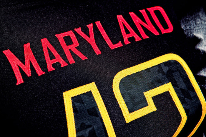 """Maryland's Under Armour """"Black Ops"""" Uniforms (3)"""