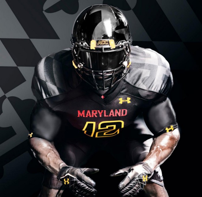 """Maryland's Under Armour """"Black Ops"""" Uniforms (5)"""
