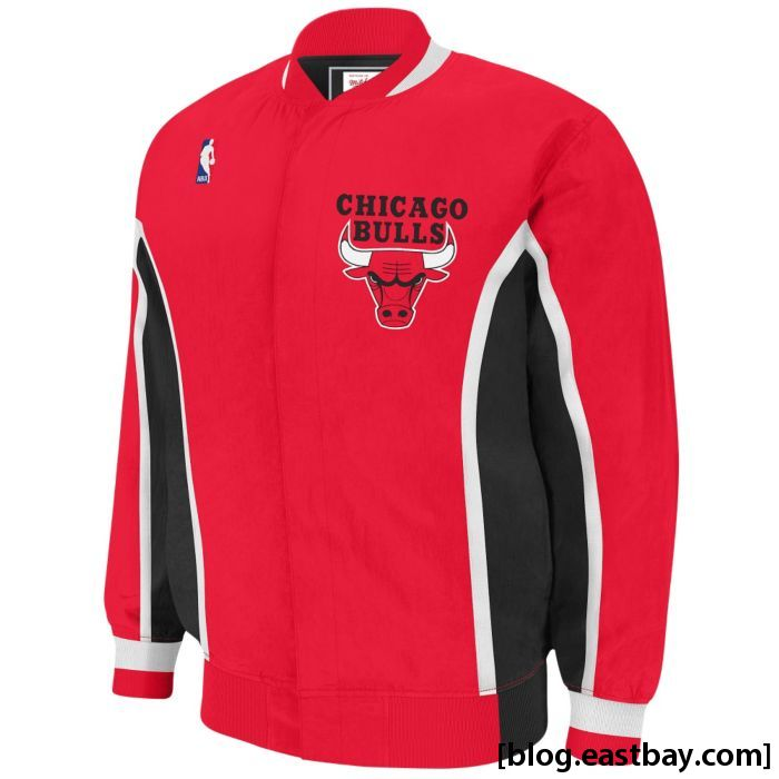Mitchell & Ness NBA Authentic Warm-Up Jacket - Chicago Bulls Red