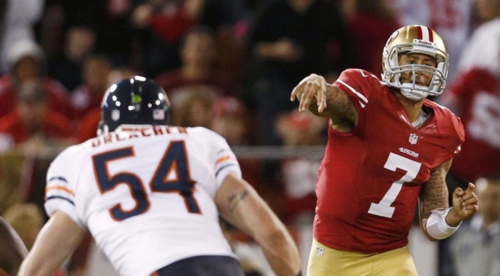NFL Watch // Kaepernick Tames Bears in First Start