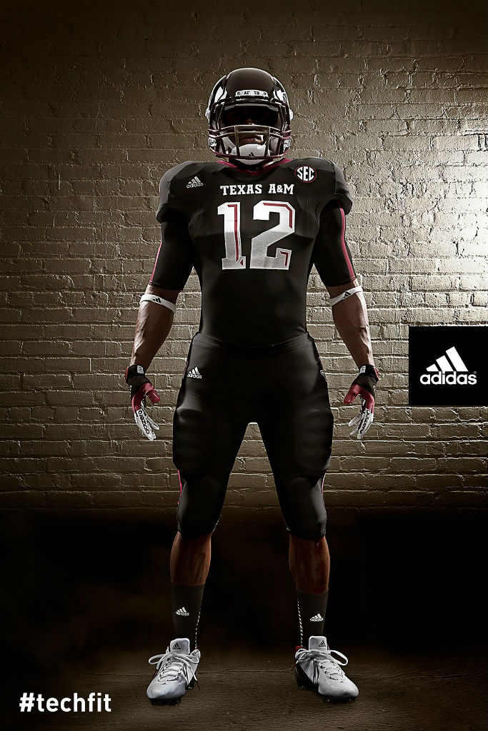 Texas A&M Aggies adidas Snow Bowl TECHFIT Uniforms (1)