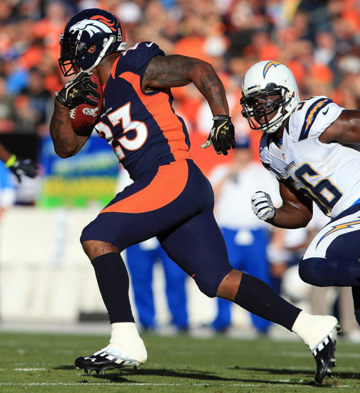 Willis McGahee wearing Under Armour Nitro Diablo