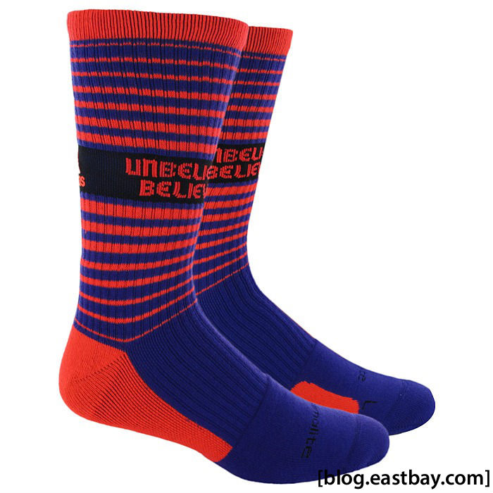 RG3 Unbelievably Believable adidas Team Speed Crew Socks Blast Purple Infrared