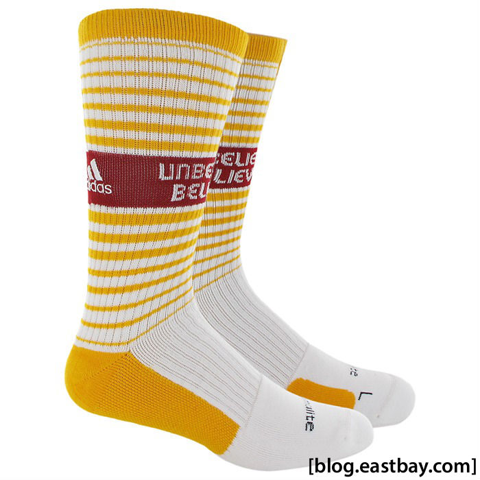 RG3 Unbelievably Believable adidas Team Speed Crew Socks White Gold Cardinal