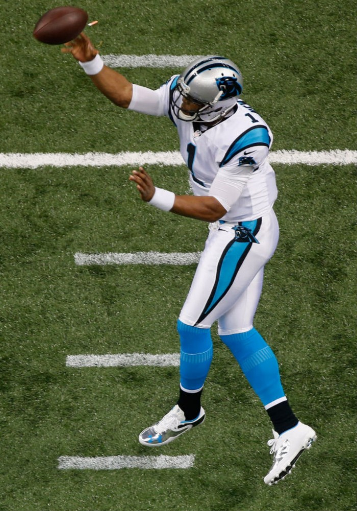 Cam Newton wearing Under Armour Cam Highlight Low Cleats