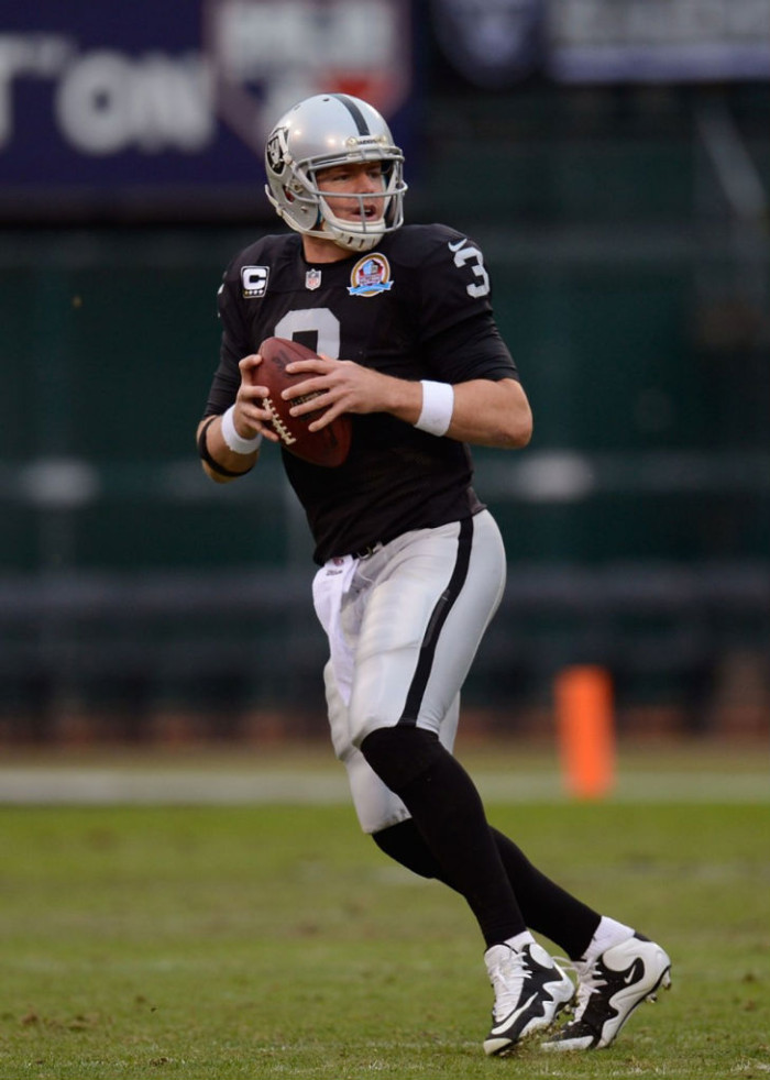 Carson Palmer wearing Nike Zoom Flyposite TD
