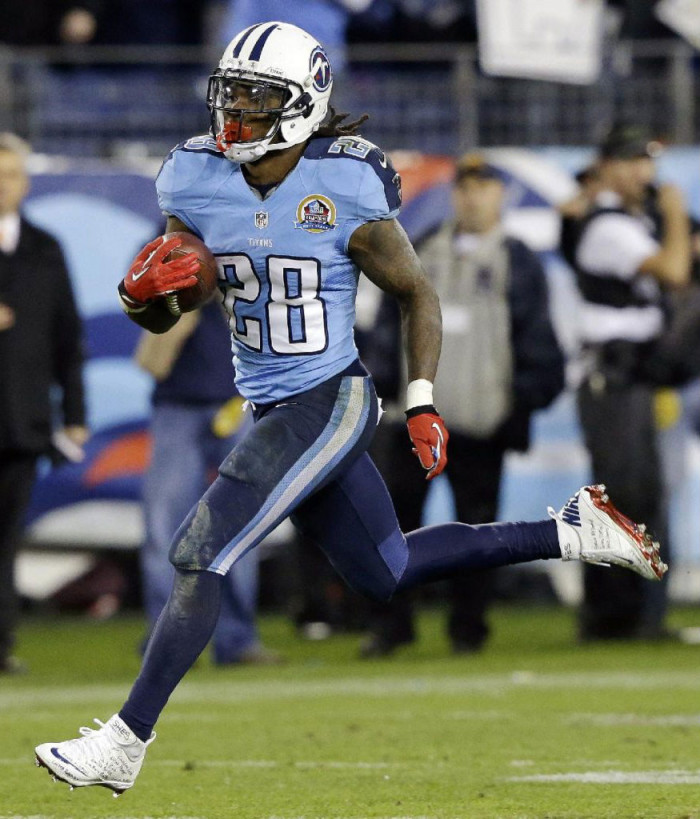 Chris Johnson wearing Nike Lunar Superbad Pro for Sandy hook Elementary (1)
