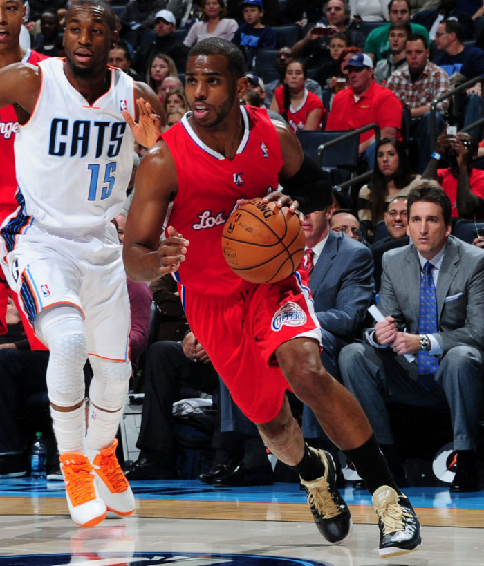 Chris Paul wearing Jordan CP3.VI Wake Forest