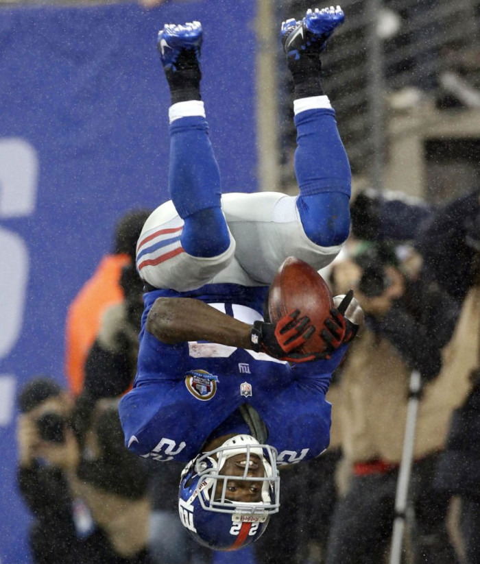 David Wilson wearing Nike Alpha Speed TD