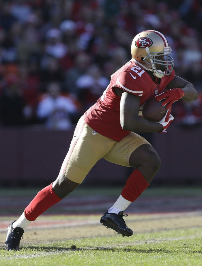 Frank Gore wearing adidas adizero 5-Star Low