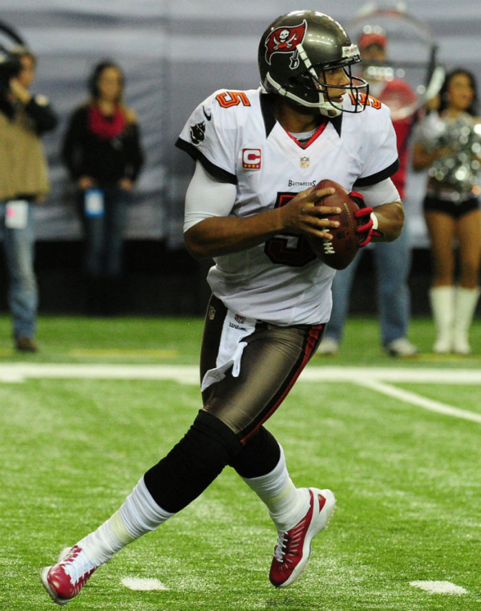 Josh Freeman wearing Jordan Super.Fly Turf PE