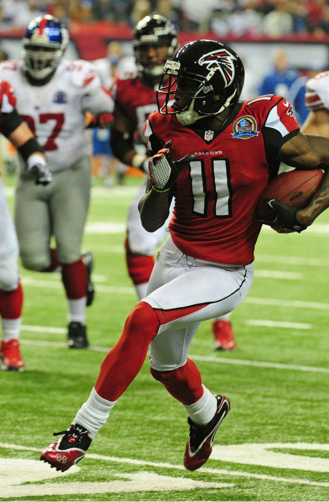 Julio Jones wearing Under Armour Mercenary 2 II