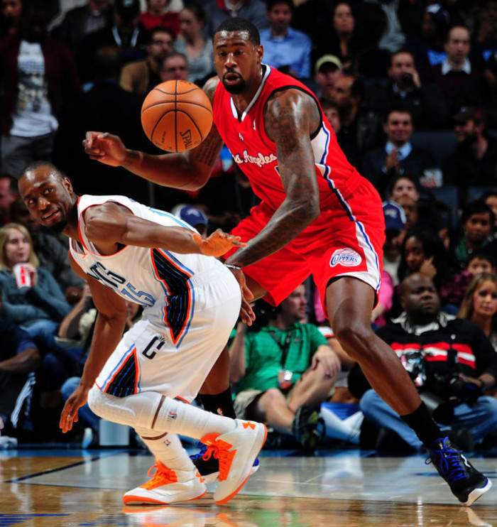 Kemba Walker wearing Under Armour Micro G Torch; DeAndre Jordan wearing Under Armour Spine Bionic