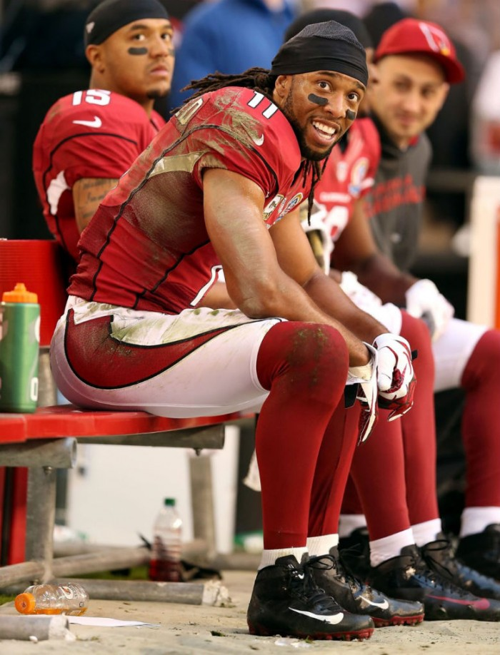 Larry Fitzgerald wearing Nike Vapor Talon Elite 3/4