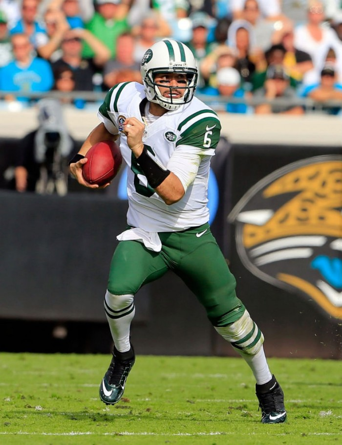 Mark Sanchez wearing Nike Lunar Superbad Pro
