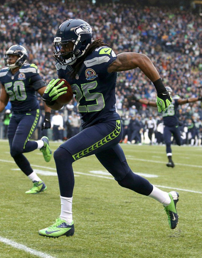 Richard Sherman wearing Nike Vapor Talon Elite Low