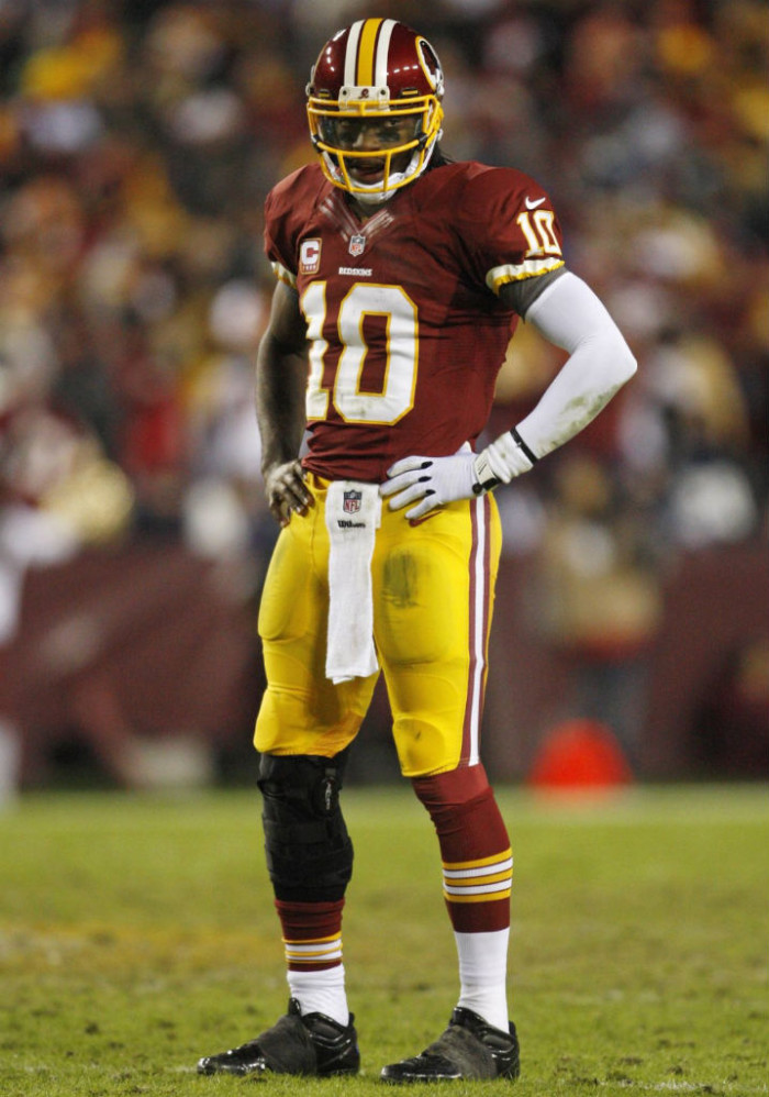 Robert Griffin III wearing adidas SuperCharge Black