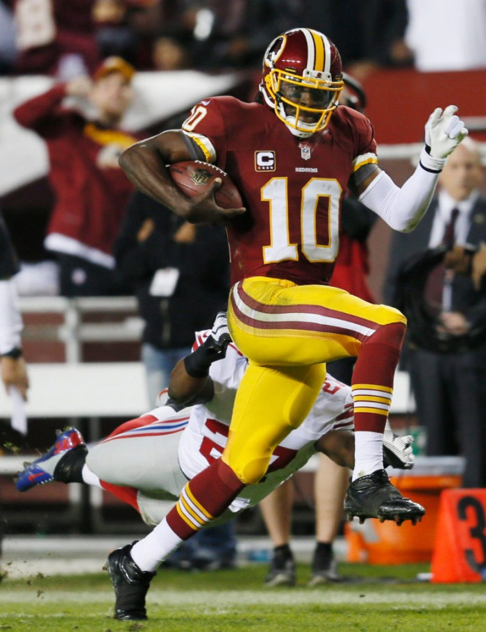 Robert Griffin III wearing adidas SuperCharge Mid