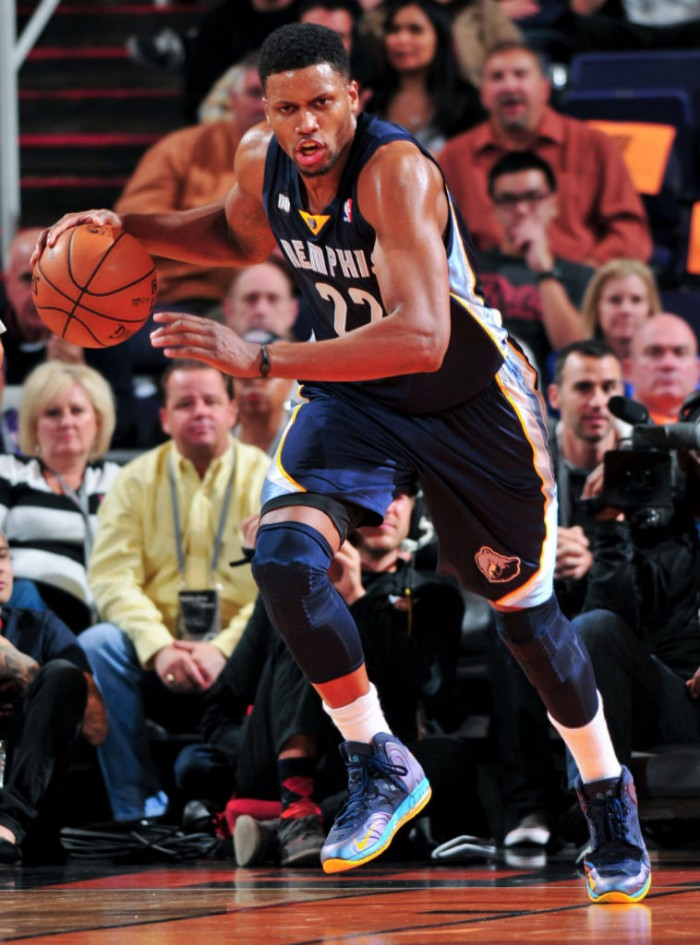 Rudy Gay wearing Nike Air Max Hyperposite PE