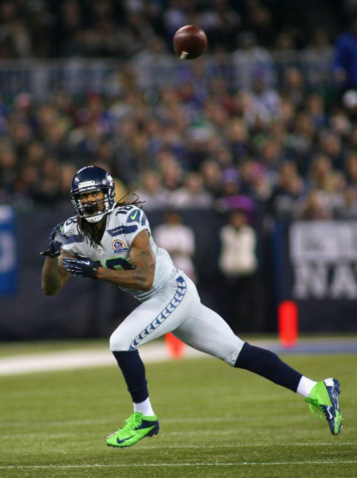 Sidney Rice wearing Nike Vapor Talon Elite 3/4