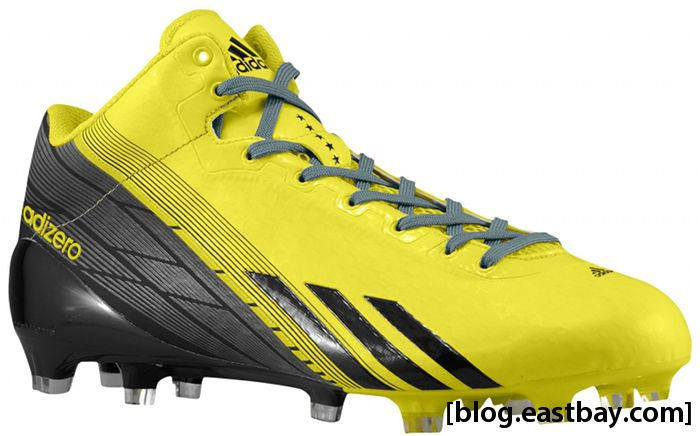 timeless design 9ea98 bd232 adidas adizero 5-Star 2.0 Mid Army All-American Bowl Vivid Yellow Black  Titantium