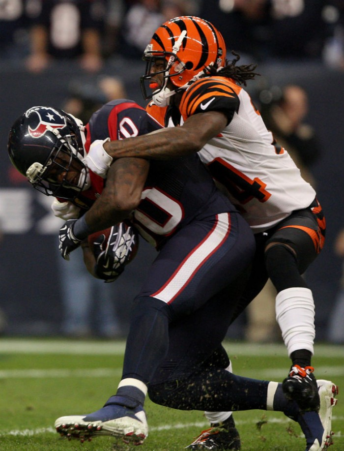 Andre Johnson wearing Jordan Pro Dominate TD