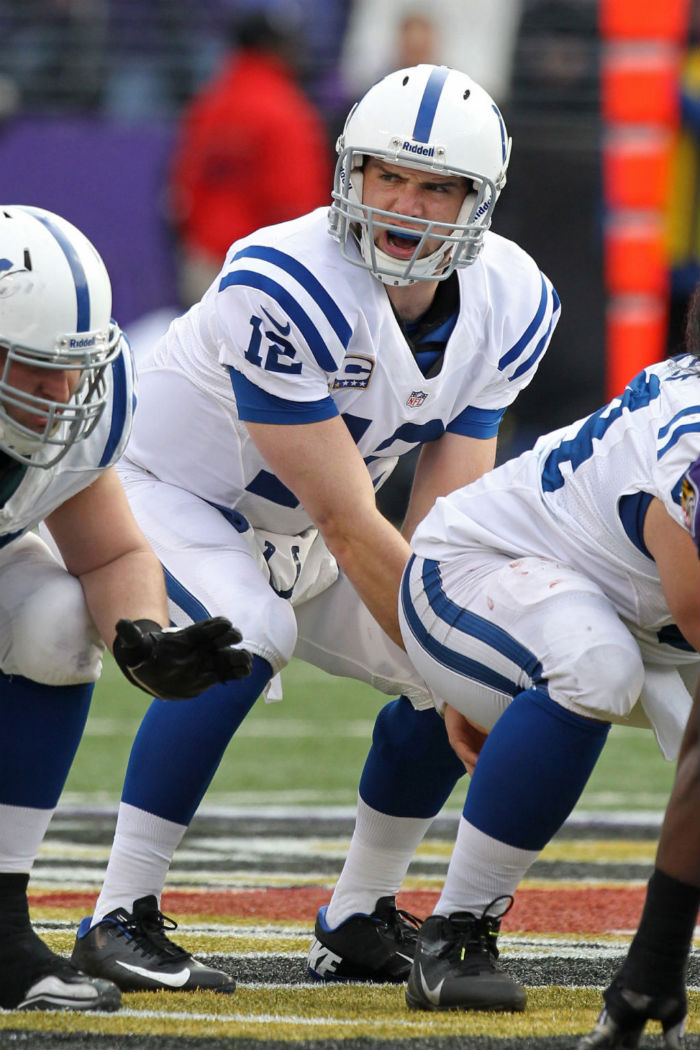 Andrew Luck wearing Nike Vapor Talon Elite Low