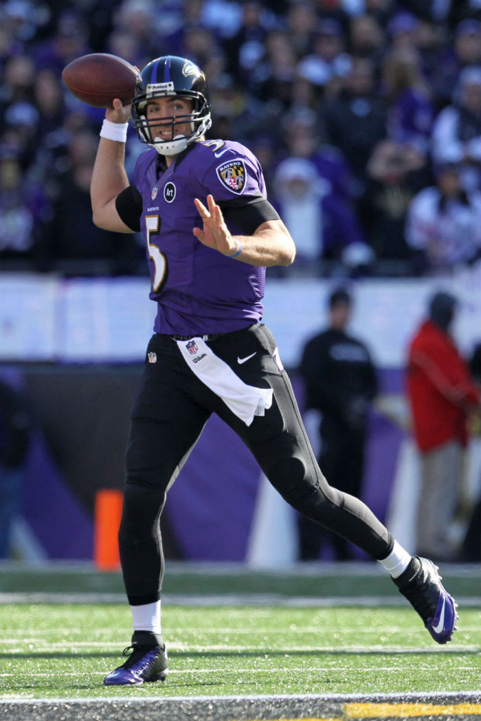 Joe Flacco wearing Nike Lunar Superbad Pro