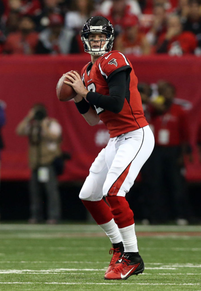 Matt Ryan wearing Nike Alpha Talon Elite 3/4