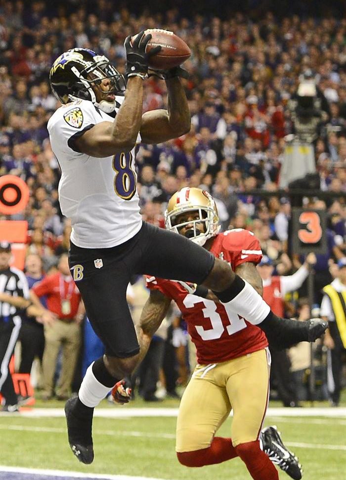 Anquan Boldin wearing Under Armour Nitro II