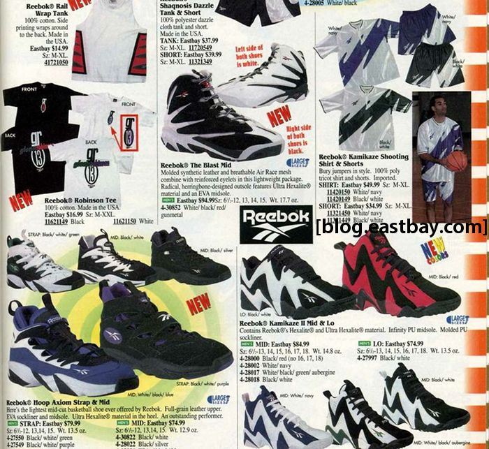 Eastbay Memory Lane // Reebok Kamikaze II Mid & Low