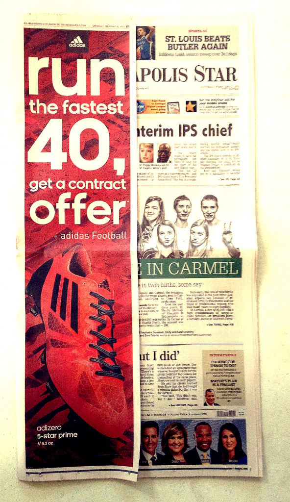 Indianapolis Star // Run Fastest NFL Combine 40, Get An NFL Contract Offer