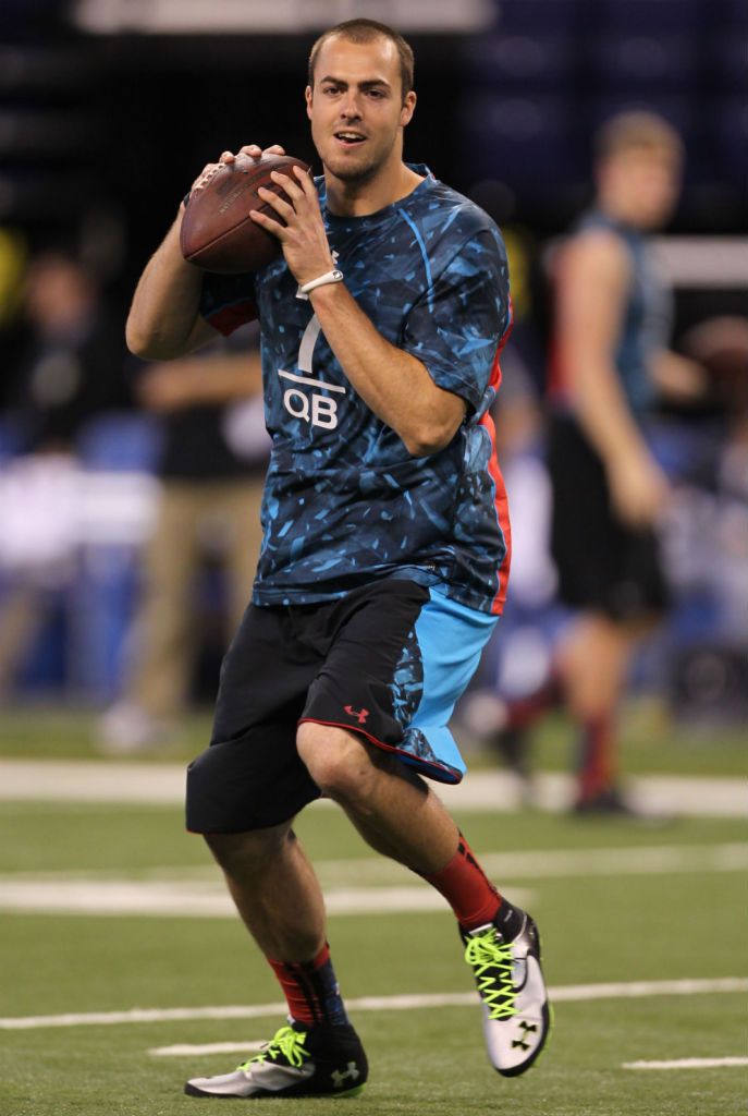 Landry Jones wearing Under Armour Nitro Icon Mid