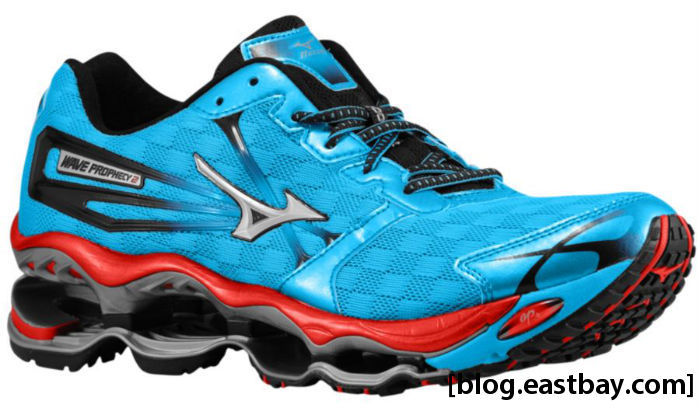 Mizuno Wave Prophecy 2 Malibu Blue Silver Chinese Red