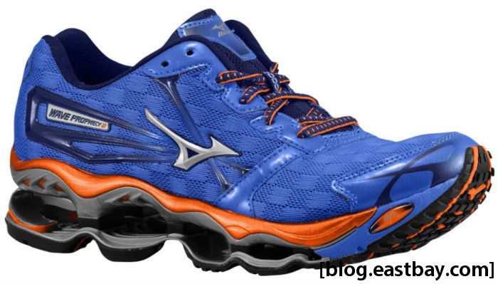 Mizuno Wave Prophecy 2 Women's Amparo Blue Vibrant Orange Blue Depths