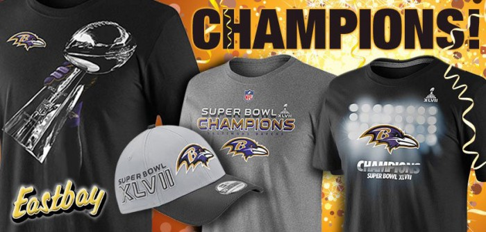 Nike Baltimore Ravens Super Bowl Championship Gear