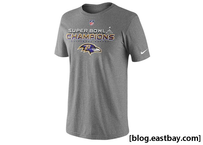 Nike NFL Super Bowl Champions Locker Room T-Shirt Baltimore Ravens